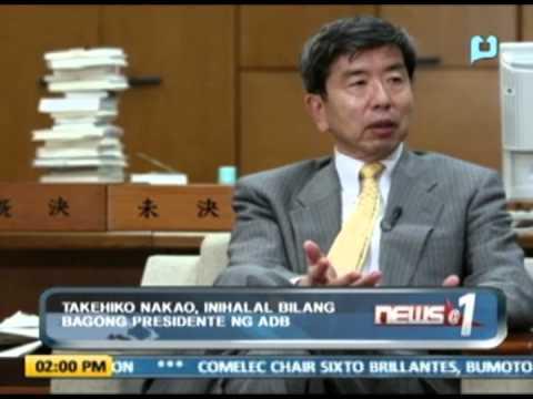 Takehiko Nakao, inihalal bilang bagong presidente ng ADB