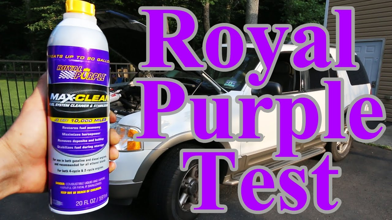 Does royal purple fuel max cleaner actually work with proof youtube