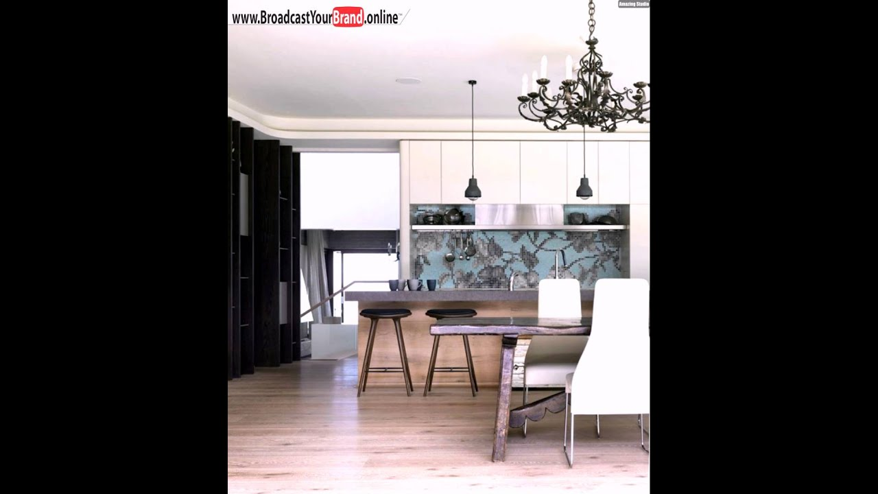 wohnideen k che modern wei fliesenspiegel hellblau youtube. Black Bedroom Furniture Sets. Home Design Ideas