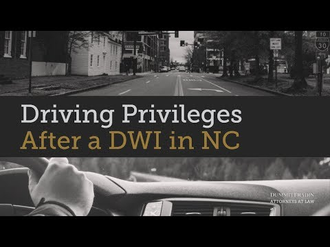 Petition for a Limited Driving Privilege in NC | Dummit Fradin