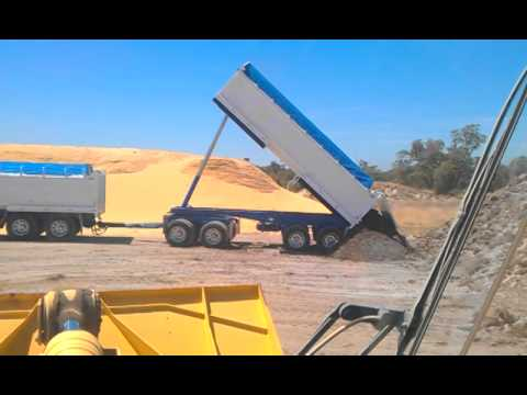 Tipping A 4 Axle Dog Trailer