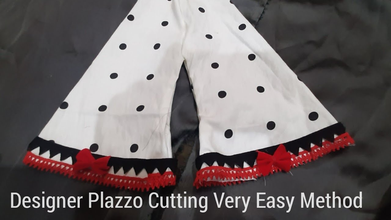 Designer Palazzo Cutting Simple And Easy Technique// Cutting Tutorial
