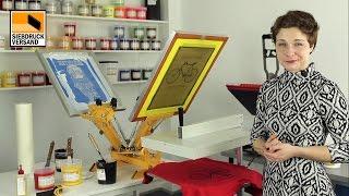 Plastisolfarbe im Siebdruck auf helle T-Shirts u. Textilien - Eine Anleitung