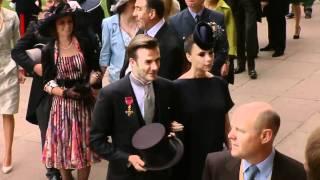 David & Victoria Beckham's grand royal entrance