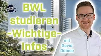 BWL studieren - was du unbedingt wissen solltest (mit David Döbele)