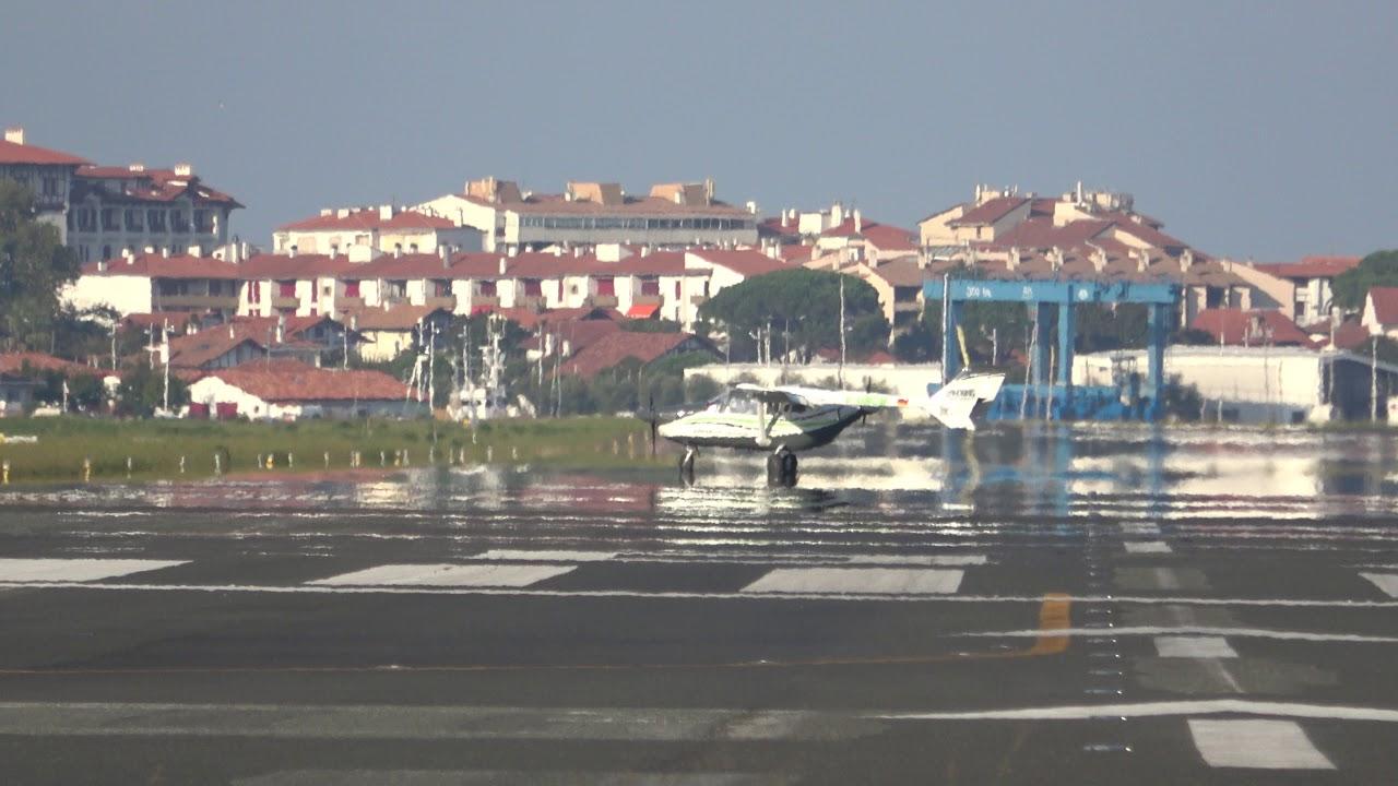 Reims/Cessna F337F Super Skymaster (D-GMCM) RWY22 landing San Sebastian  (EAS/LESO)
