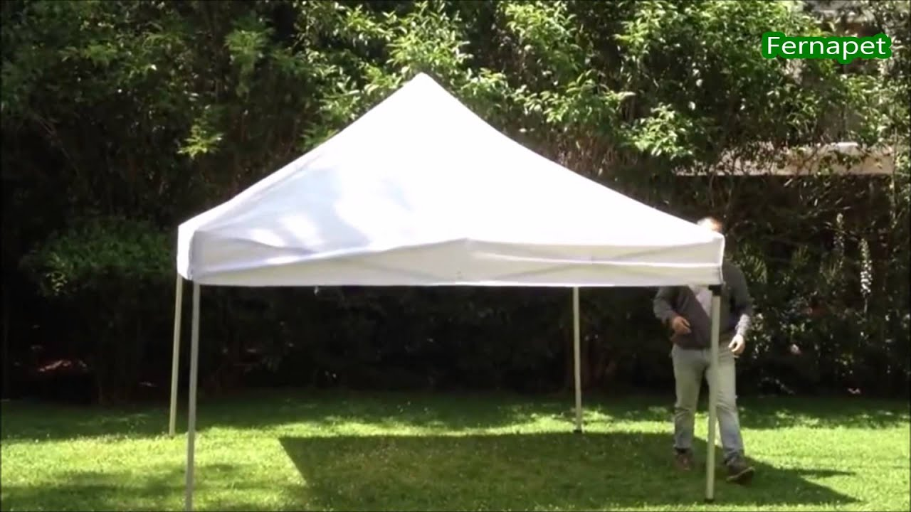 Toldo plegable f cil de armar y transportar metal y lona for Gazebo plegable easy