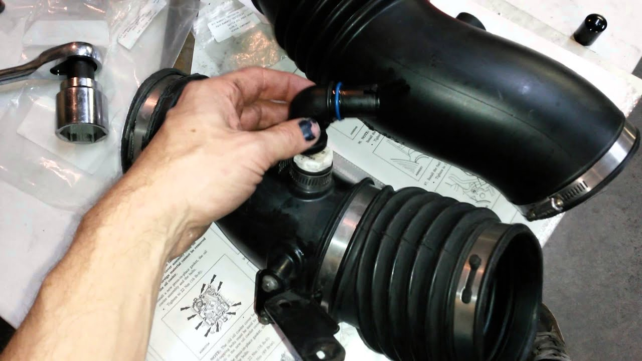ford 6 0l diesel crankcase breather ccv re route save your cac boots turbo  [ 1280 x 720 Pixel ]