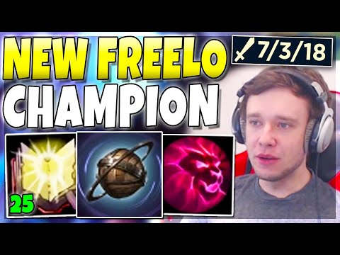This champion is LITERALLY FREELO now.. ABUSE! - League of Legends