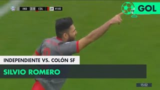 Silvio Romero (2-0) Independiente vs Colón SF | Fecha 5 - Superliga Argentina 2018/2019