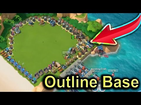 Outlne Base Vs HAMMERMAN DEFENCE EVENT | Base Design (HQ) Boom Beach Gameplay