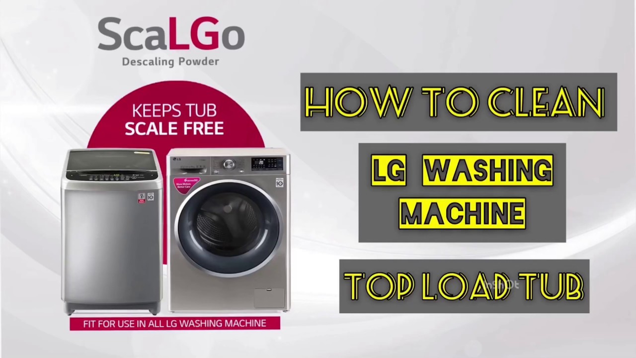 How to clean LG washing machine TUB | Cleaning Washing ...