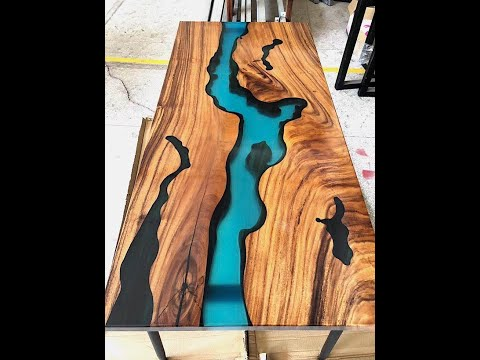 Amazing Epoxy resin Wood tables