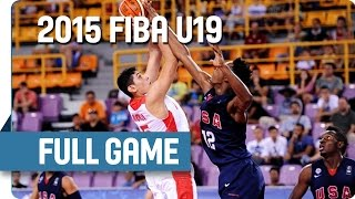 Iran v USA - Group A - Full Game - 2015 FIBA U19 World Championship