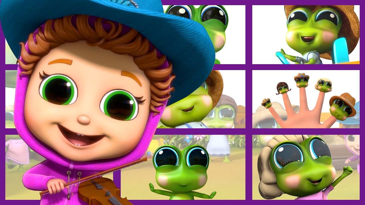 Finger Family Frogs | Finger Family Songs