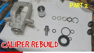 How To Rebuild Rear Brake Caliper On Peugeot 307,Citroen,Partner Part 2.