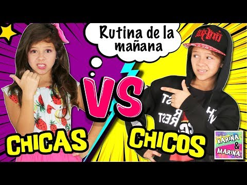 🎀 ¡¡CHICAS VS CHICOS!! 💜 RUTINA DE MAÑANA para ESCUELA o COLEGIO 📚 NIÑAS vs NIÑOS MORNING ROUTINE