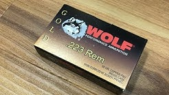 .223 Remington, 55gr FMJ, Wolf Gold