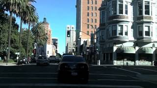 Driving in Sacramento downtown