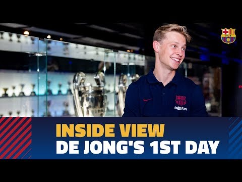[BEHIND THE SCENES] Frenkie de Jong's first day in Barcelona
