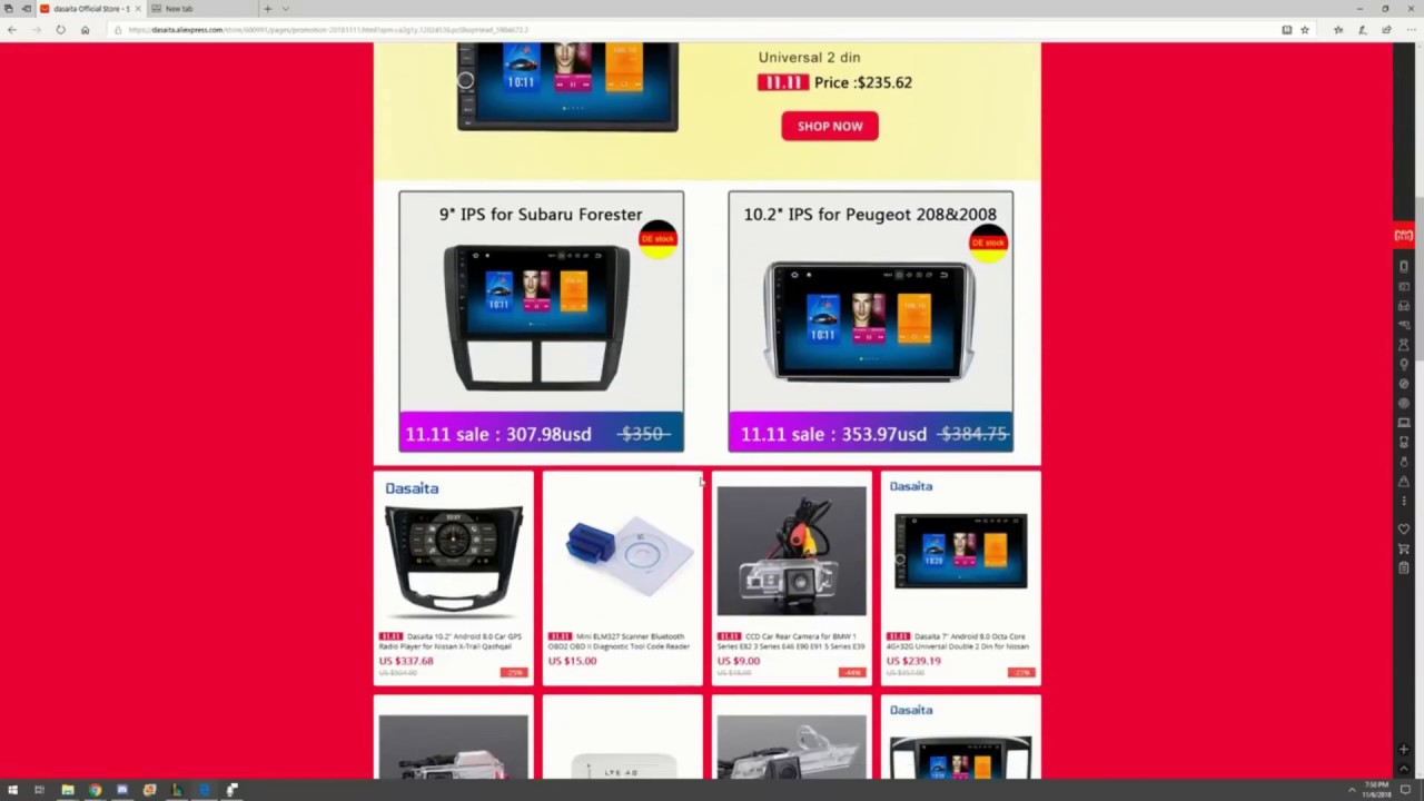 Dasaita 2018 11 11 big sales , android car radio