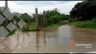 Lluvias fuertes provocan inundaciones y desborde de río en el Istmo