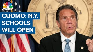 New York Gov. Cuomo: New York schools will be open for in-person learning