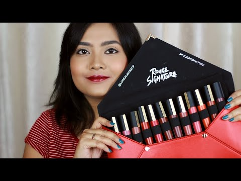 Loreal Paris Rouge Signature Lipsticks | Swatches & Review
