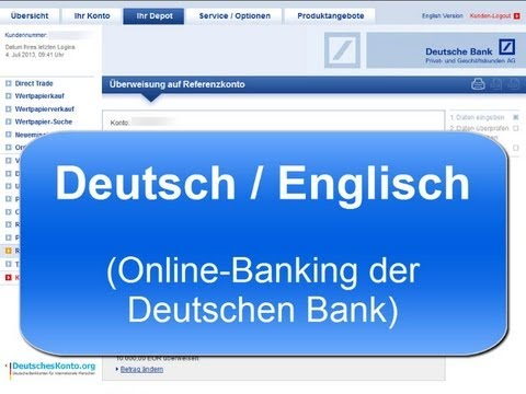 Deutsche Bank ► Online-Banking in English