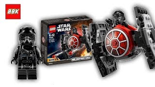 LEGO Star Wars First Order Tie Fighter Microfighter 75194 Review Speed Build Time Lapse
