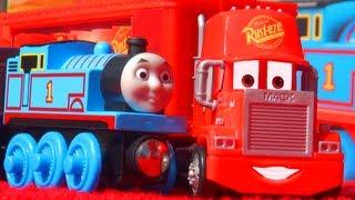 Cars 2 Mack Truck & Thomas Tank Talking Farm Toy - Disney Pixar Quick Changers VS Thomas & Friends