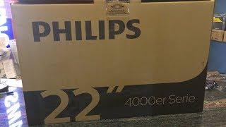 PHILIPS tv 22PFS4031 Full HD ( UNBOXING - TEST - kicsomagoás)