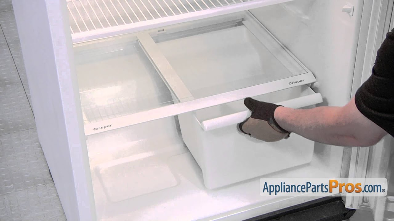 Refrigerator Crisper Drawer Track Part Wp How To Replace Youtube