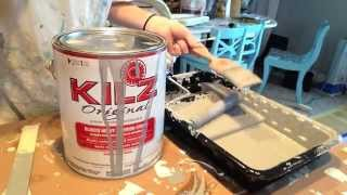 How Clean Kilz Original Oil Based Primer Paint Brush