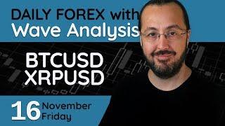 BTCUSD, XRPUSD - Forex Trade Setups (16 November 2018)
