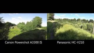 canon Powershot A3300 IS vs. Panasonic HC-V210