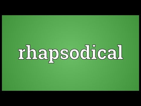 Header of rhapsodical
