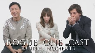 """""""Rogue One: A Star Wars Story"""" Cast Funny Moments Episode I (Part 1)"""