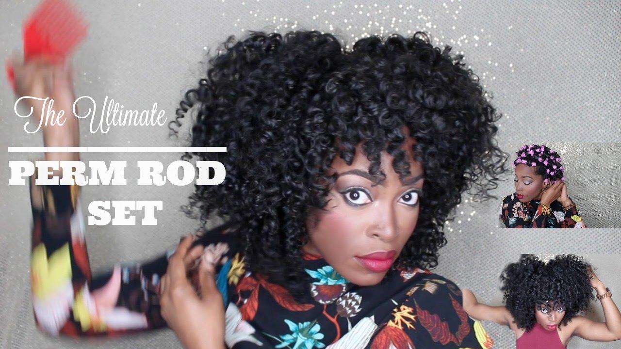 Perm Rod Natural Hair Tutorial