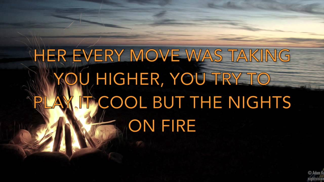 Nights on Fire - David Nail (Lyric Video) - YouTube