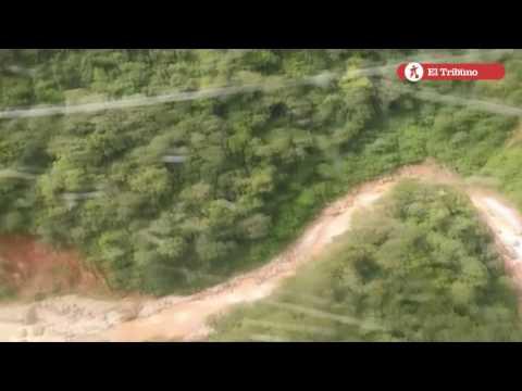 Temporal en Jujuy: La localidad de San Francisco vista desde helicóptero