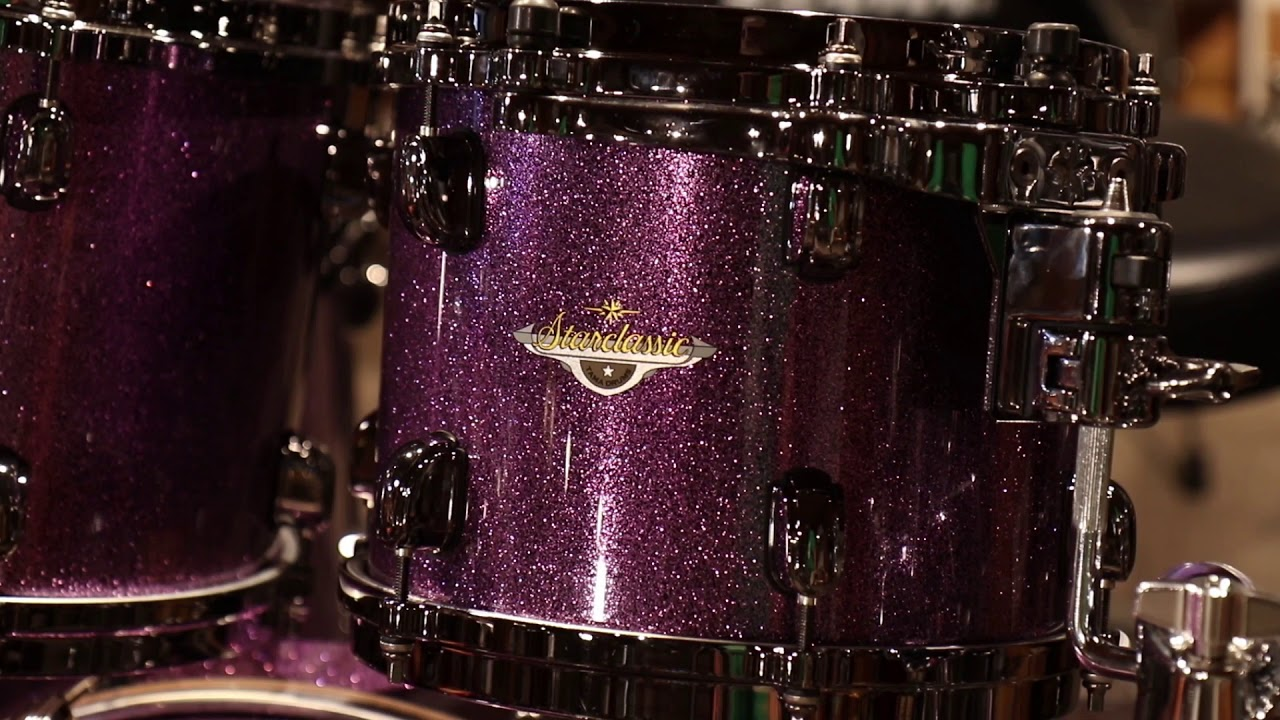 tama starclassic bubinga 4 piece shell pack deeper purple youtube. Black Bedroom Furniture Sets. Home Design Ideas