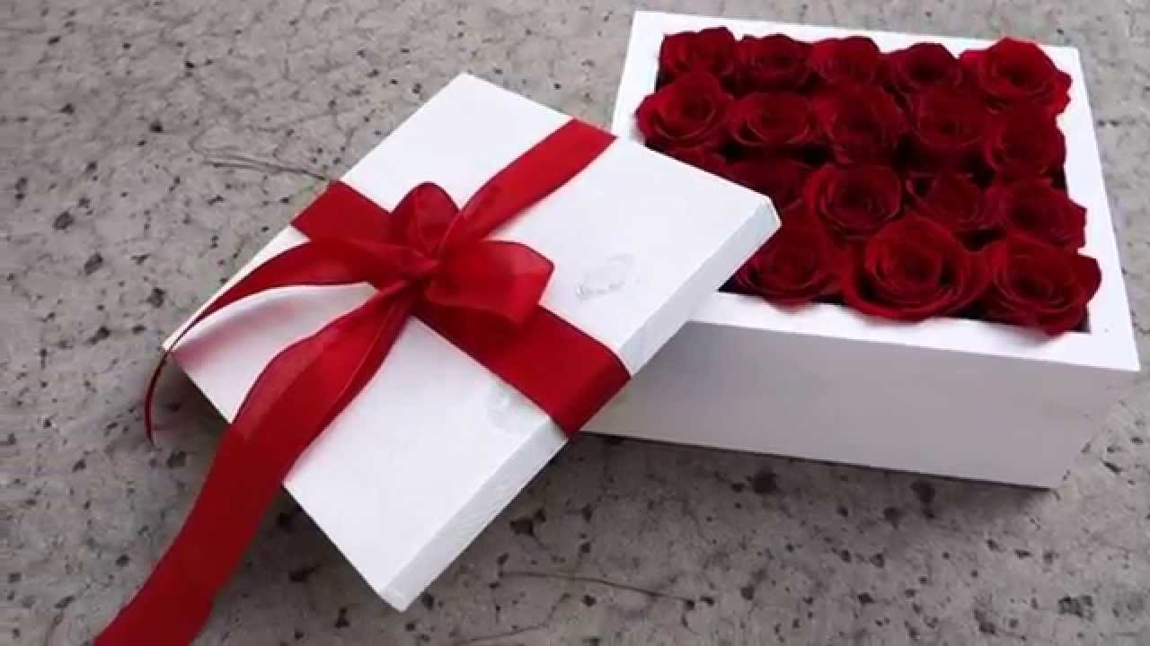 Box Of Red Roses, Valentines Day Flowers San Diego   YouTube