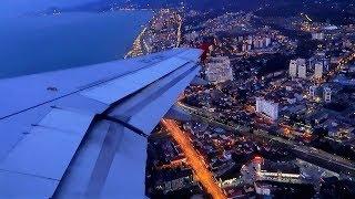 Вечерний взлет из Сочи A320 Red Wings