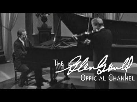 Glenn Gould & Yehudi Menuhin - Bach, Sonata No. 4 in C minor (OFFICIAL)