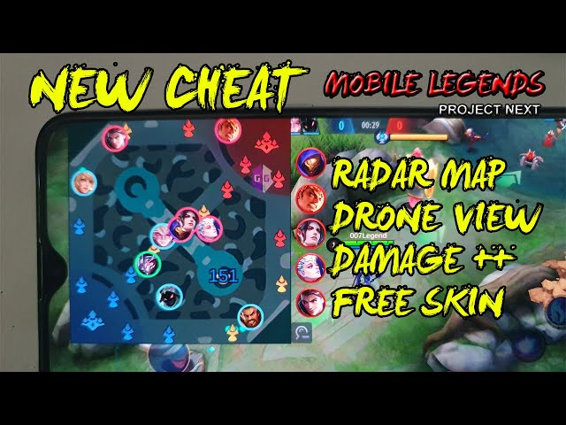 CHEAT MOBILE LEGENDS 1.50.X TERBARU ANDROID NO ROOT (RADAR MAP, DRONE VIEW, DAMAGE, DLL)