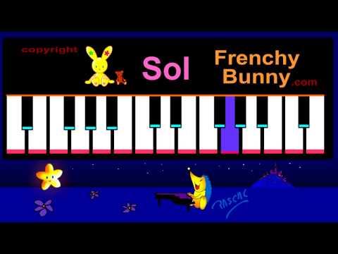 Apprendre les notes au Piano  ( Do, Re, Mi...) - Leçon de Piano 1 :)