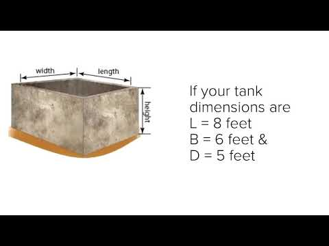 How to calculate water tank capacity in liters?