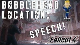 Fallout 4: SPEECH Bobblehead Location - Vault 114!