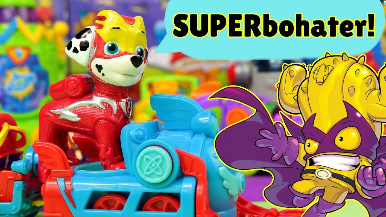 Psi Patrol 🐶 Pieski poznają superbohaterów SuperZings ⚡ bajki dla dzieci